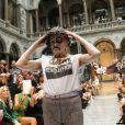 Vivienne Westwood, 71 ans, lors de son défilé Printemps-Été 2013 à Londres, le 16 septembre 2012.