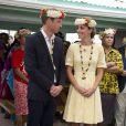 Le duc et la duchesse de Cambridge en visite officielle à Tuvalu le 18 septembre 2012.