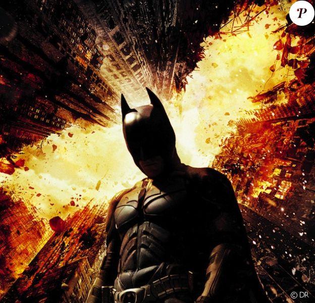 L'affiche du film The Dark Knight Rises, sorti le 25 juillet 2012.