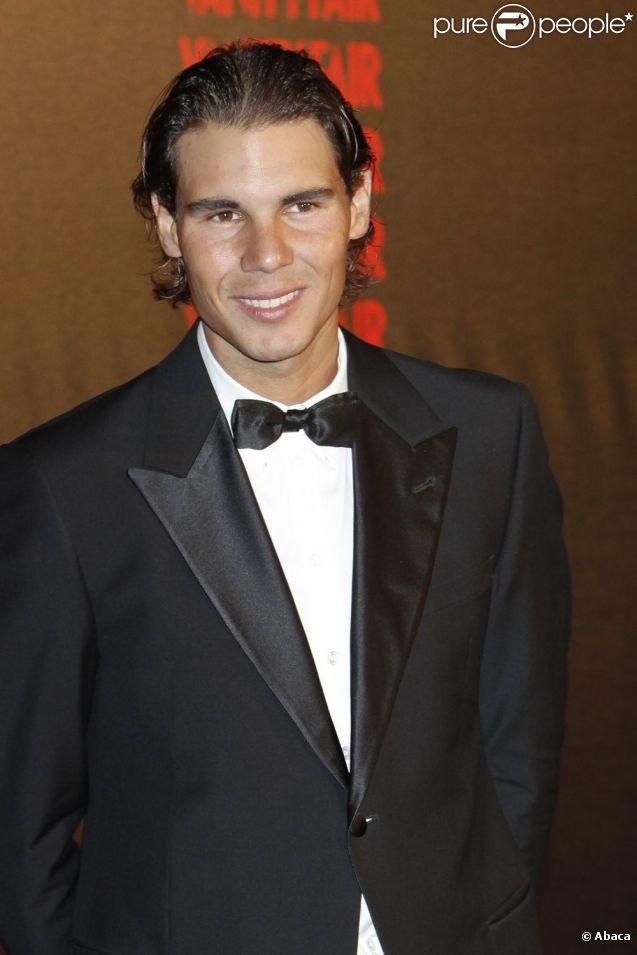 Rafael Nadal lors d'une soirée organisée par Vanity Fair à l'ambassade d'Italie à Madrid le 17 septembre 2012