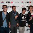 Cyprien, Hugo tout seul et Norman étaient sur la feuille de match lors de la soirée de lancement FIFA 13, le 25 septembre 2012 à l'Olympia de Paris.
