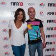 Karima Charni et Cartman lors de la soirée de lancement FIFA 13, le 25 septembre 2012 à l'Olympia de Paris.