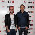 Tarek Boudali et Julien Arruti de La Bande à Fifi lors de la soirée de lancement FIFA 13, le 25 septembre 2012 à l'Olympia de Paris.
