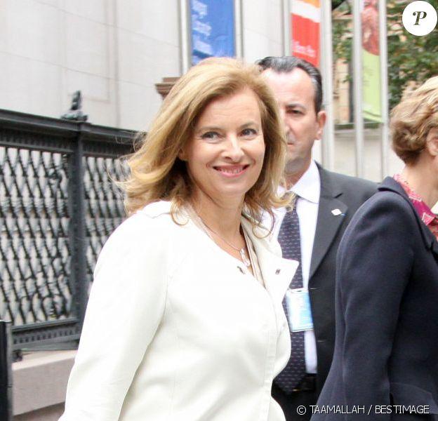 Valérie Trierweiler à sa sortie duMorgan Library and Museum à New York, le mercredi 26 septembre.