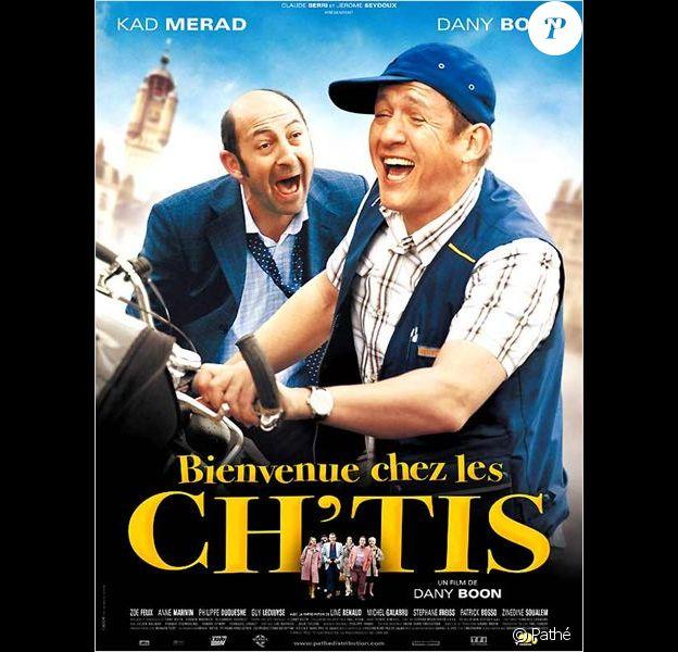Dany Boon et Kad Merad dans Bienvenue chez les Ch'tis (2008).