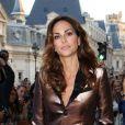 Tasha de Vasconcelos arrive au défilé prêt-à-porter printemps-été 2013 de Jean Paul Gaultier. Paris, le 29 septembre 2012.