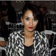 Rachida Brakni assiste au défilé prêt-à-porter printemps-été 2013 de Jean-Paul Gaultier. Paris, le 29 septembre 2012.