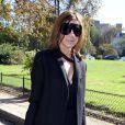Carine Roitfeld arrive au défilé Céline printemps-été 2013. Paris, le 30 septembre 2012.