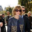 Anna Wintour arrive au défilé Céline printemps-été 2013. Paris, le 30 septembre 2012.