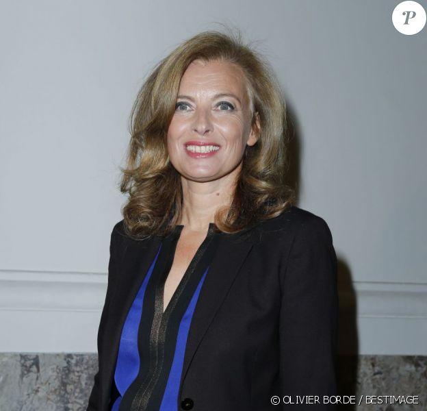 Valérie Trierweiler au défilé Saint Laurent Paris, au Grand Palais, à Paris, le 1er octobre 2012.