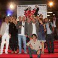L'équipe du film lors de l'avant-première de Stars 80 à Lille le 10 septembre 2012