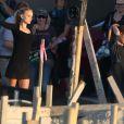 Natalie Portman et Holly Hunter tournent le nouveau film de Terrence Malick à Austin, Texas, le 3 octobre 2012.