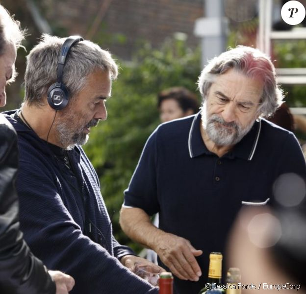 Première photo de Robert De Niro chez Luc Besson sur le plateau de Malavita.