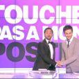 Cyril Hanouna et Camille Combal sur le plateau de Touche pas à mon poste, lundi 8 octobre 2012 sur D8
