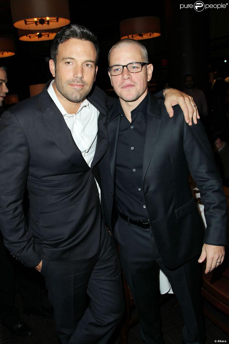 Ben Affleck et Matt Damon lors de l'avant-première à New York du film Argo le 9 octobre 2012