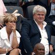 Eric Raoult et sa femme à Roland-Garros, le 31 mai 2008.