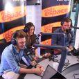 Capucine, Yoann et Alexandre au micro de Laurent Argelier