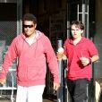 TJ Jackson et son cousin Prince Jackson, fils de Michael Jackson, le mardi 16 octobre à Los Angeles.