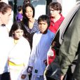 TJ Jackson entouré de Prince et Blanket, fils de Michael Jackson, le mardi 16 octobre à Los Angeles.