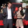 Robert Pattinson et Kristen Stewart avant leur rupture à Hollywood, le 3 novembre 2011.