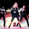 Madonna en concert à Londres en 1985.