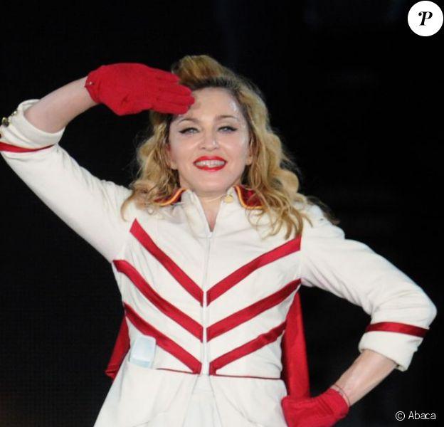 Madonna en concert à Moscou le 7 août 2012.