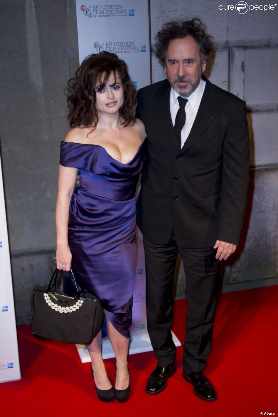 Helena Bonham Carter et Tim Burton ont été honorés en couple lors du 56e London Film Festival, le 20 octobre 2012.