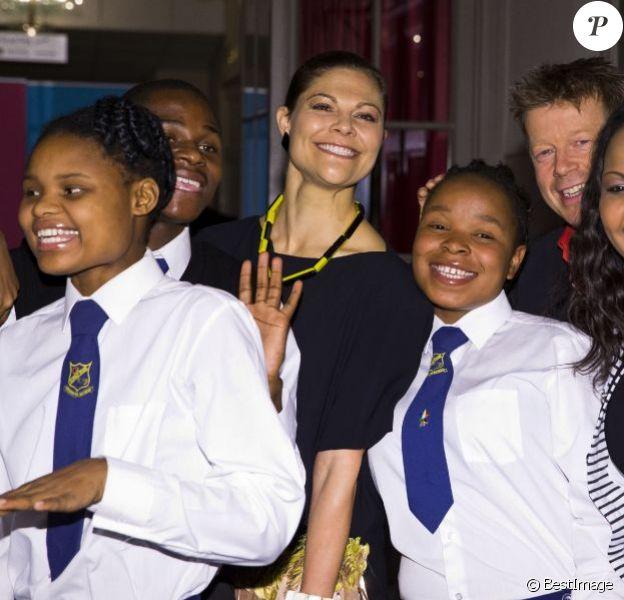 La princesse Victoria de Suède était à l'Académie royale de musique de Suède le 22 octobre 2012 pour un concert au profit de l'association Star for Life.