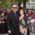Tim Burton et Helena Bonham Carter à Londres le 9 mai 2012 pour l'avant-première de  Dark Shadows