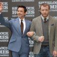 Robert Downey Jr. et Guy Ritchie en décembre 2011.