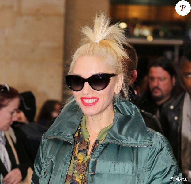 Gwen Stefani arrive à la gare du Nord à Paris le 5 novembre 2012.