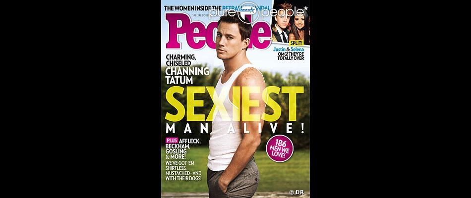Channing Tatum, en couverture du magazine People, qui l'a élu homme le plus sexy de 2012