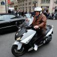"""""""Gérard Depardieu en scooter à Paris le 7 novembre 2012"""""""