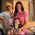 Exclu : Adeline Blondieau et son compagnon Laurent Hubert, avec leur fille Wilona, à Marrakech pendant les vacances de la Toussaint