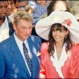 Mariage de Johnny Hallyday et Adeline Blondieau le 7 juillet 1990 à Ramatuellle
