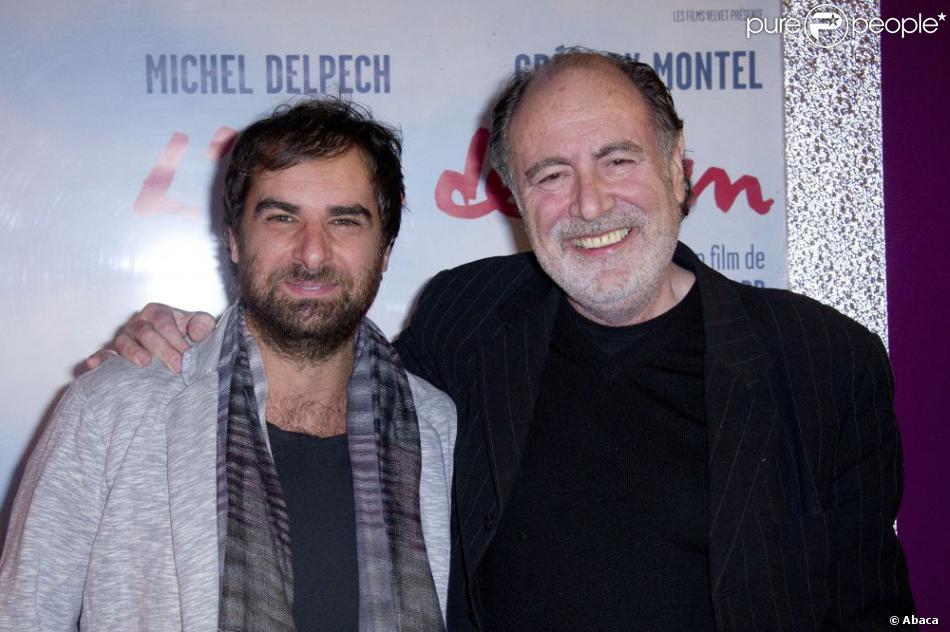 Grégory Montel et Michel Delpech à l'avant-première de  L'Air de rien  à Paris, le 6 novembre 2012.