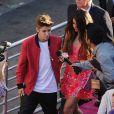 Justin Bieber et Selena Gomez se rendant à l'avant-première de Katy Perry: Part of Me le 26 juin 2012 à Los Angeles