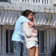 Justin Bieber et Selena Gomez, des amoureux face à l'océan Pacifique le 23 septembre 2011