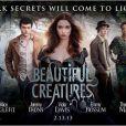 L'affiche du film  Sublimes Créatures  pour se familiariser avec de nouveaux visages...