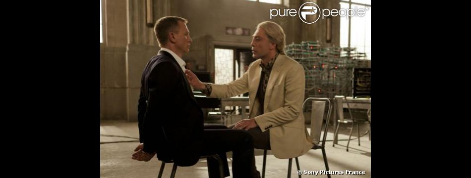 Daniel Craig et Javier Bardem dans Skyfall