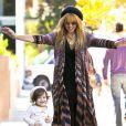 Rachel Zoe, son mari Rodger Berman et leur adorable fils Skyler à Los Angeles le 11 novembre 2012.