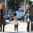 Rachel Zoe, son mari Rodger Berman et leur fils Skyler passent du temps ensemble à Los Angeles le 11 novembre 2012.