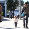 Rachel Zoe, son mari Rodger Berman et leur fils Skyler à Los Angeles le 11 novembre 2012.