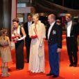 Arrivée de la famille princière au Forum Grimaldi pour l'opéra de Puccini  La Fianciulla del West  lors de la soirée de gala de la Fête nationale à Monaco le 19 novembre 2012.