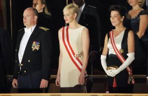 Monaco : La princesse Charlene, lumineuse, étrenne ses insignes de Grand Croix