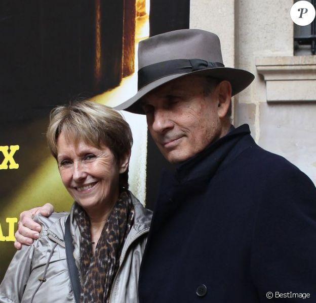 """Guy Marchand - Remise du prix polar """"Quai des Orfevres 2013"""" a Danielle Thiery, ancienne commissaire de Police. Le 20 novembre 2012 20/11/2012 - PARIS"""