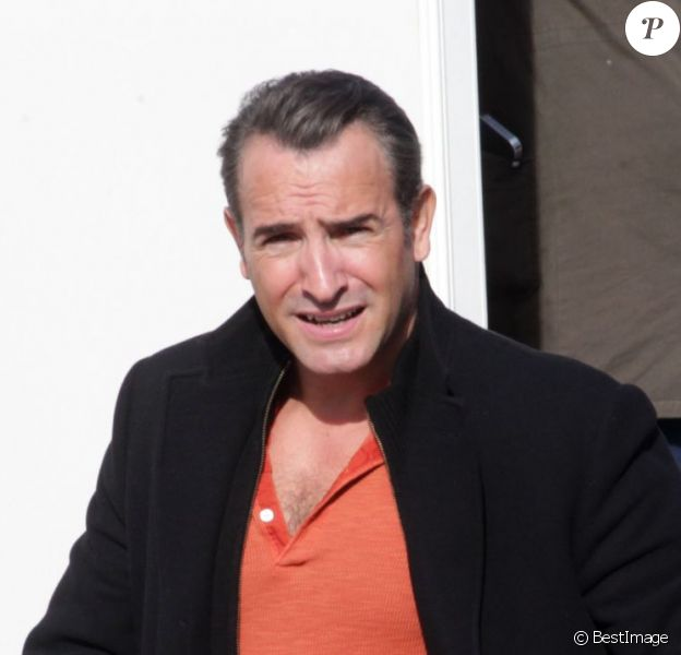 Jean Dujardin sur le tournage de The Wolf of Wall Street le 20 novembre 2012 à New York