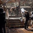 Chris Nolan filme Bane et Batman en plein combat, dans The Dark Knight Rises.