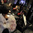 """""""La Princesse Stéphanie de Monaco présente  Jungle Fight  sur Radio Monaco afin d'évoquer son association Fight Aids qui lutte contre le side, le 23 novembre 2012."""""""