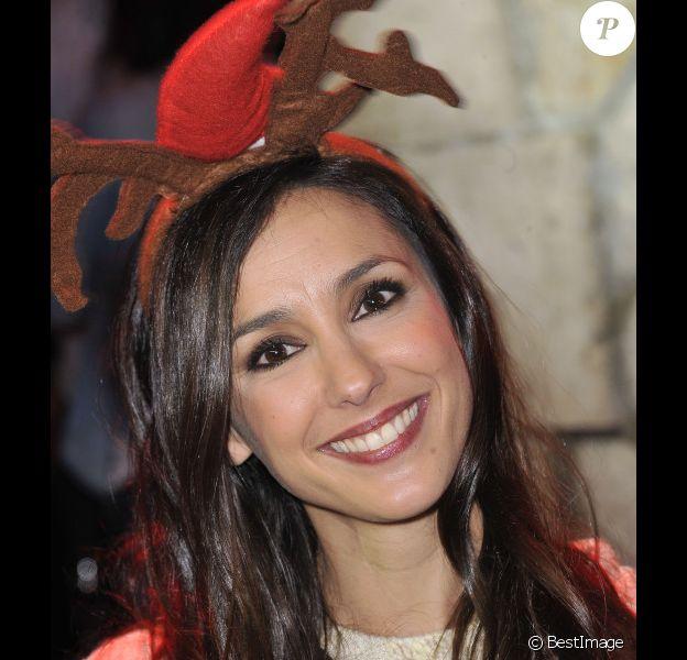 Elise Chassaing lors de l'inauguration des vitrines de Noël Coca-Cola au Showcase à Paris le 26 Novembre 2012
